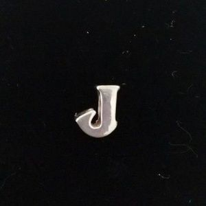 Initial Letter J Bead .925 Sterling Silver Charm